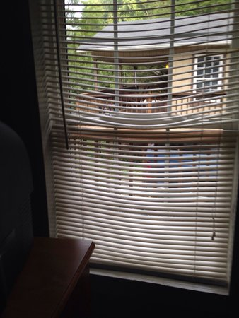 Highland Hills Motel & Cabins : Blinds so old they were warped