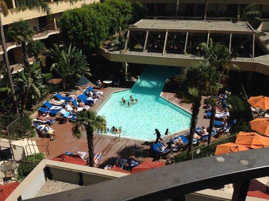 Anaheim Marriott: View from room 525 looking left