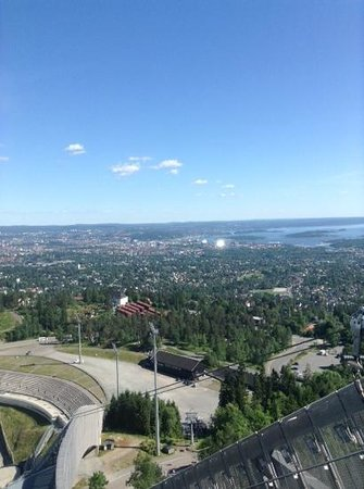 Museo de Esquí Holmenkollen y Torre del trampolín: view from the top