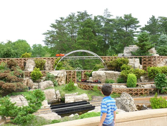 Taltree Arboretum and Gardens: first view of railroad garden