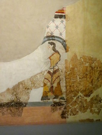Museum of Prehistoric Thera : Fresco of a woman