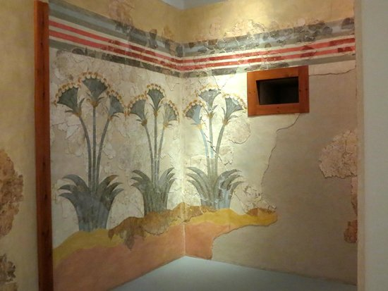 Museum of Prehistoric Thera : Frescoes of the lilies