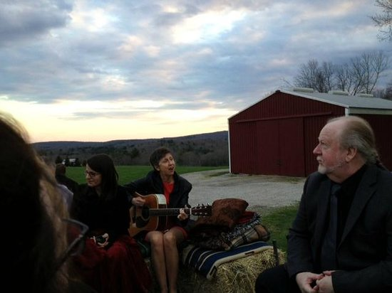 Golden Lamb Buttery: Hay ride with blankets and song