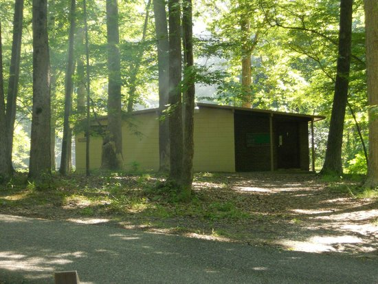Newport News Park: Restrooms with heated showers and flush toilets