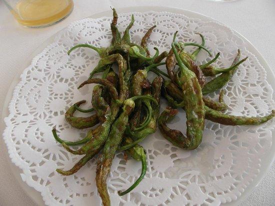 Arizia: Pepper appetizers, not too hot.
