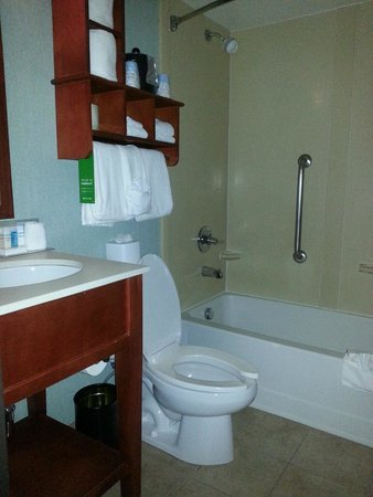 Hampton Inn Portland Clackamas : Small bathroom