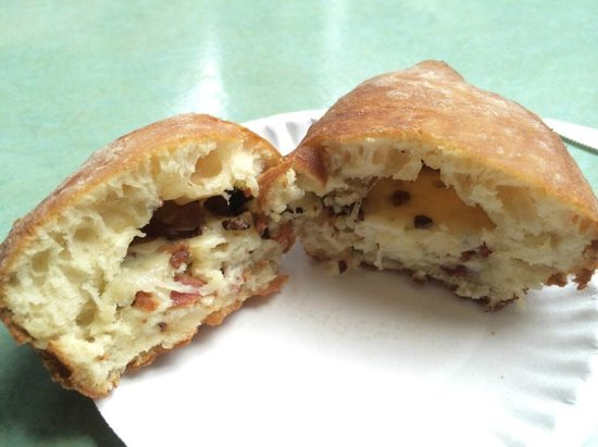 The Holy Donut: The bacon cheddar donut in all its glory