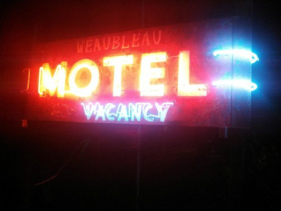 Weaubleau Motel Neon Sign