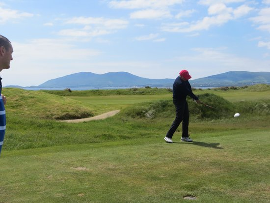Waterville Golf Links : Fred hitting a long draw