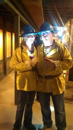 Queen Mine Tours: Gear worn while in the mine, The wife and I are rocking this getup!