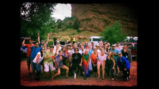 Red Rocks Park and Amphitheatre: A gathering of friends in the Red Rocks lot
