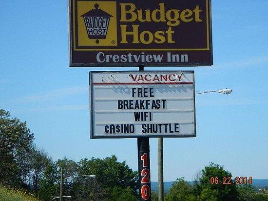 Budget Host Crestview Inn: signage