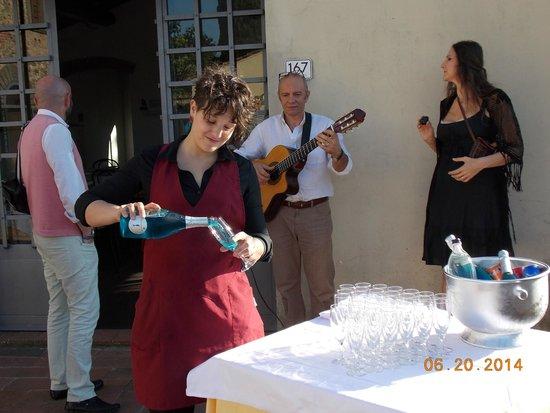 Ristorante Albergaccio: Welcome chanpagne