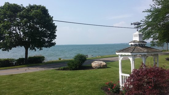 A Water's Edge Retreat Resort: The lovely view from the spacious front porch.