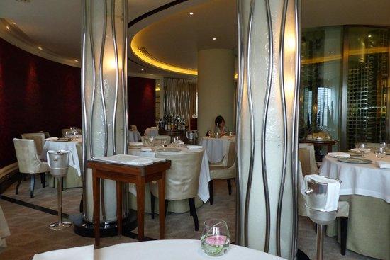 Formal dining at Petrus