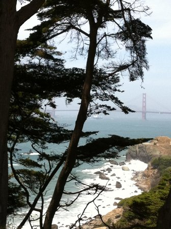 Lands End: A view of the GG from Coastal Trail
