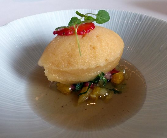 Petrus: Sorbet palate cleanser