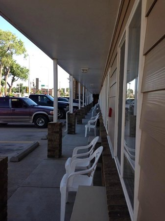 Gold Star Motel: View from our door, #112