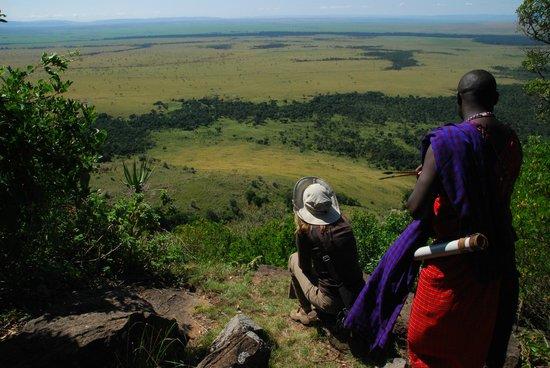 Mara West Camp: View during walking safari