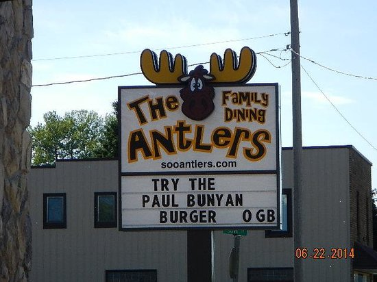 The Antlers Restaurant: signage