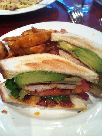 Blue Fish Restaurant: Chicken, BLT avocado sandwich