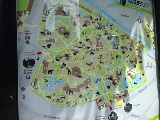 Berlin Zoological Garden : Map of zoo. They don't give out maps. Take a picture by the entrance or keep this one.