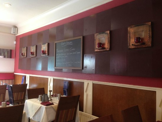 Ashoka West End: Showing 'The 'Specials' board and wall candles