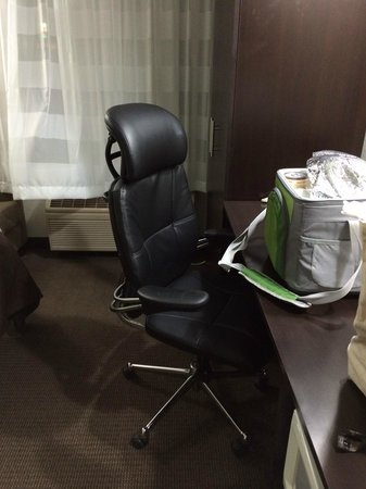 Sleep Inn : Ignore the road-trip cooler-- check out the ergonomic chair!!