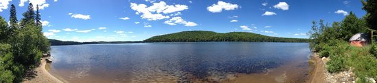 Rock Lake Campground: View from our site during the day