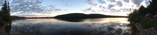 Rock Lake Campground: View from our site at night