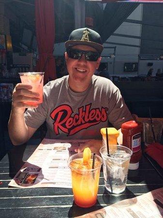 PBR Rockbar & Grill: hatbender in the sun