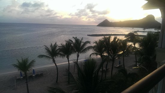 The Landings St. Lucia : sunset from balcony