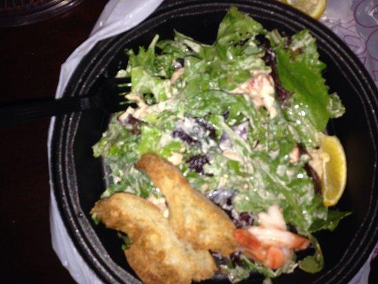 Crowne Plaza Hotel: Seafood salad
