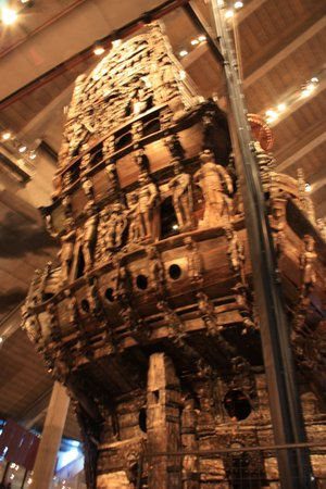 Vasa-Museum: the stern of the ship