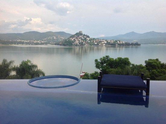 El Santuario Hotel And Spa: Albercas con vistas al aire libre