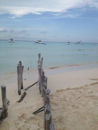 Playa Norte- bustling beach front