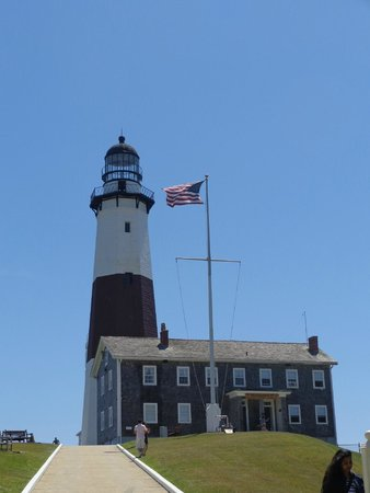 Montauk Point Lighthouse: at the base of the light house