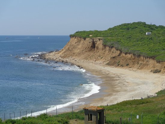 Montauk Point Lighthouse: view from the hill where the light house is