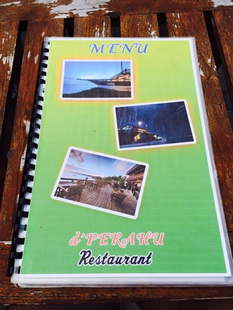 Anda Beach Hotel & Restaurant: Menu