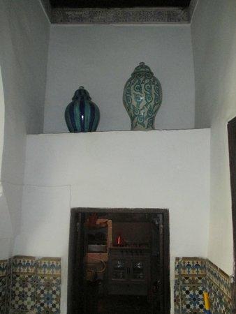 Dar Mouassine : Decorated nook.