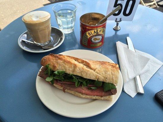 Cook and Baker: Beef horseradish & rocket sandwich