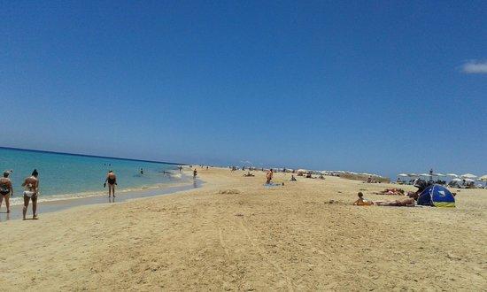 Iberostar Fuerteventura Palace : Playa en sentido Faro de Jandía