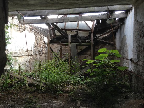 Eastern State Penitentiary : Collapsed roof
