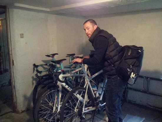 Hotel La Cascade : Great secure store room for the bikes.