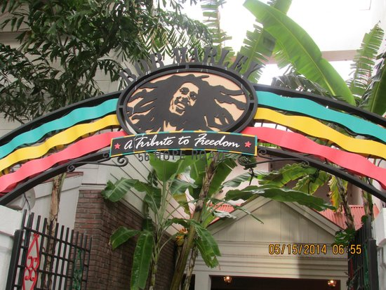 Bob Marley A Tribute to Freedom : Entrance to the restaurant
