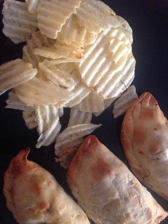 Panas Gourmet Empanadas: Chips no gourmet all-natural baked plantain chips. Shameful