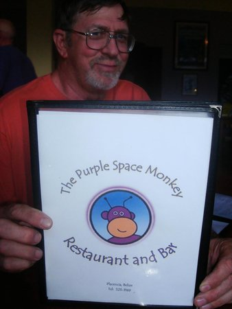The Purple Space Monkey Bar & Grill: Menu with mouth watering temptations!