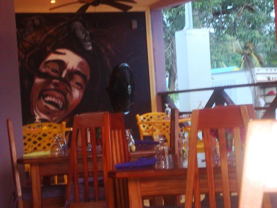 The Purple Space Monkey Bar & Grill: The Bob Marley corner!