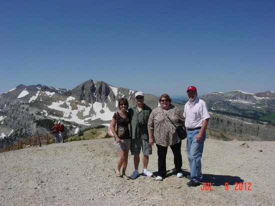 Jackson Hole Aerial Tram: We made it to the top - 10,927ft!