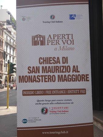 Chiesa di San Maurizio al Monastero Maggiore : Outside the church